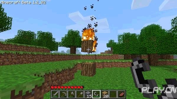 我的世界 新手攻略 打火石和打火镰制作与使用图片