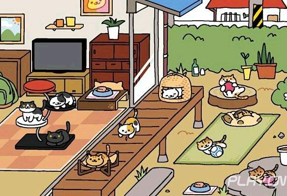 游戏中可爱的猫咪