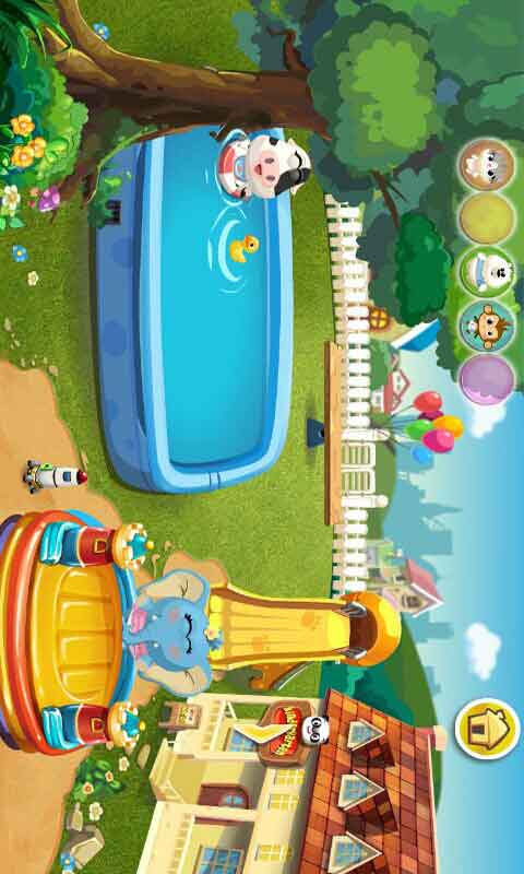幼儿园小动物室内做游戏